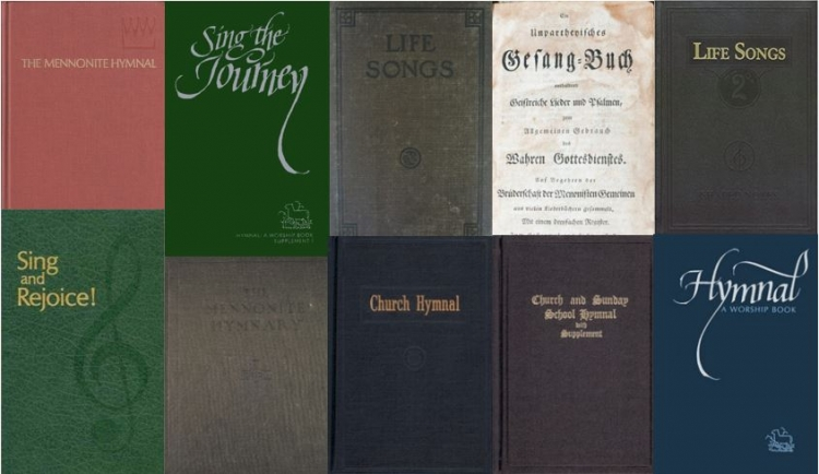 a hymnal collage